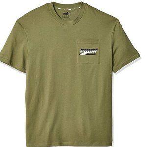 PUMA Men's Green Rebel Pocket T-Shirt XL XXL NWT